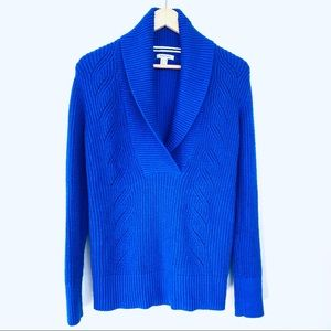 Nautica cotton blend sweater with shawl collar
